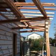 車庫になる部分の屋根