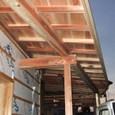 車庫になる部分の屋根完成